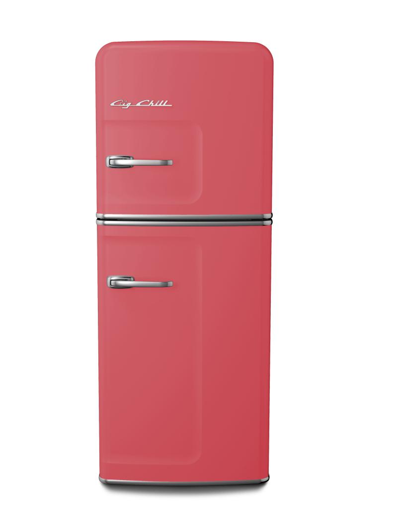 Slim Refrigerator in Custom Color #3017 Rose