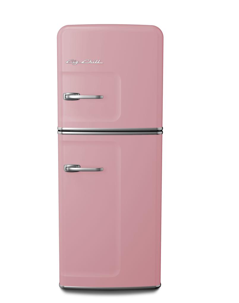 Slim Refrigerator in Custom Color #3015 Light Pink