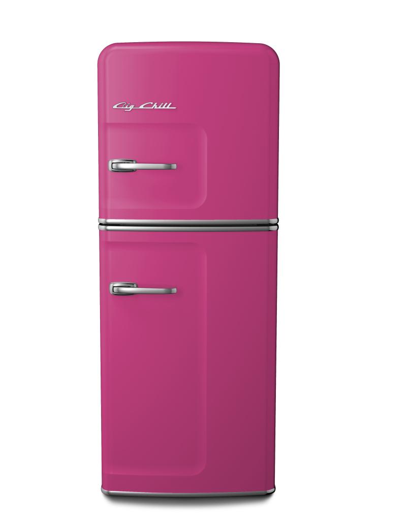 Slim Refrigerator in Custom Color #4010 Telemagenta