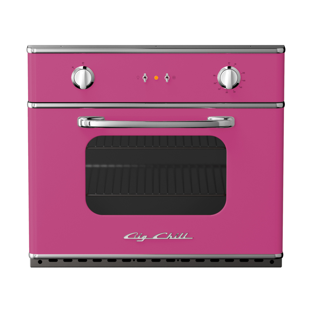 Retro 30″ Electric Wall Oven in Custom Color #4010 Telemagenta