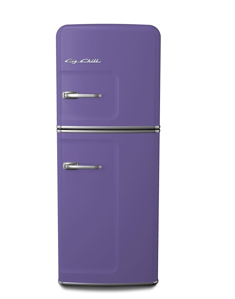 Slim Refrigerator in Custom Color #4005 Blue Lilac