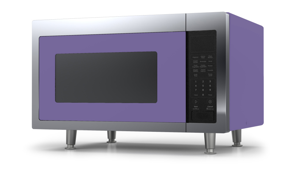 Retro Microwave in Custom Color #4005 Lilac Blue