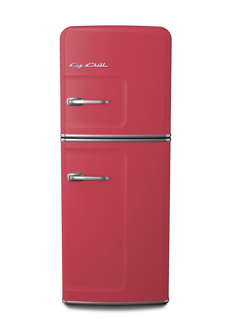 Slim Refrigerator in Custom Color #3018 Strawberry Red