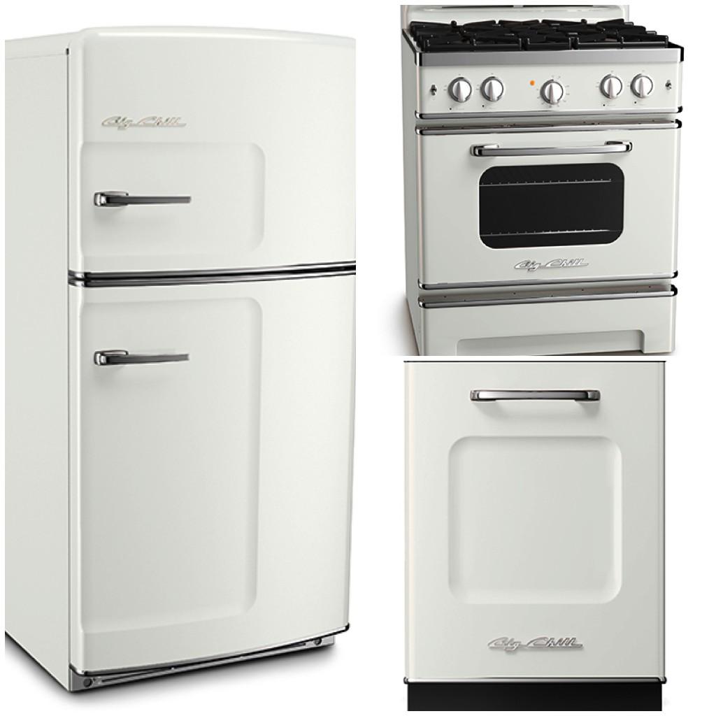 Original Fridge - 30 Retro Stove - Retro Dishwasher - Classic White - Big Chill