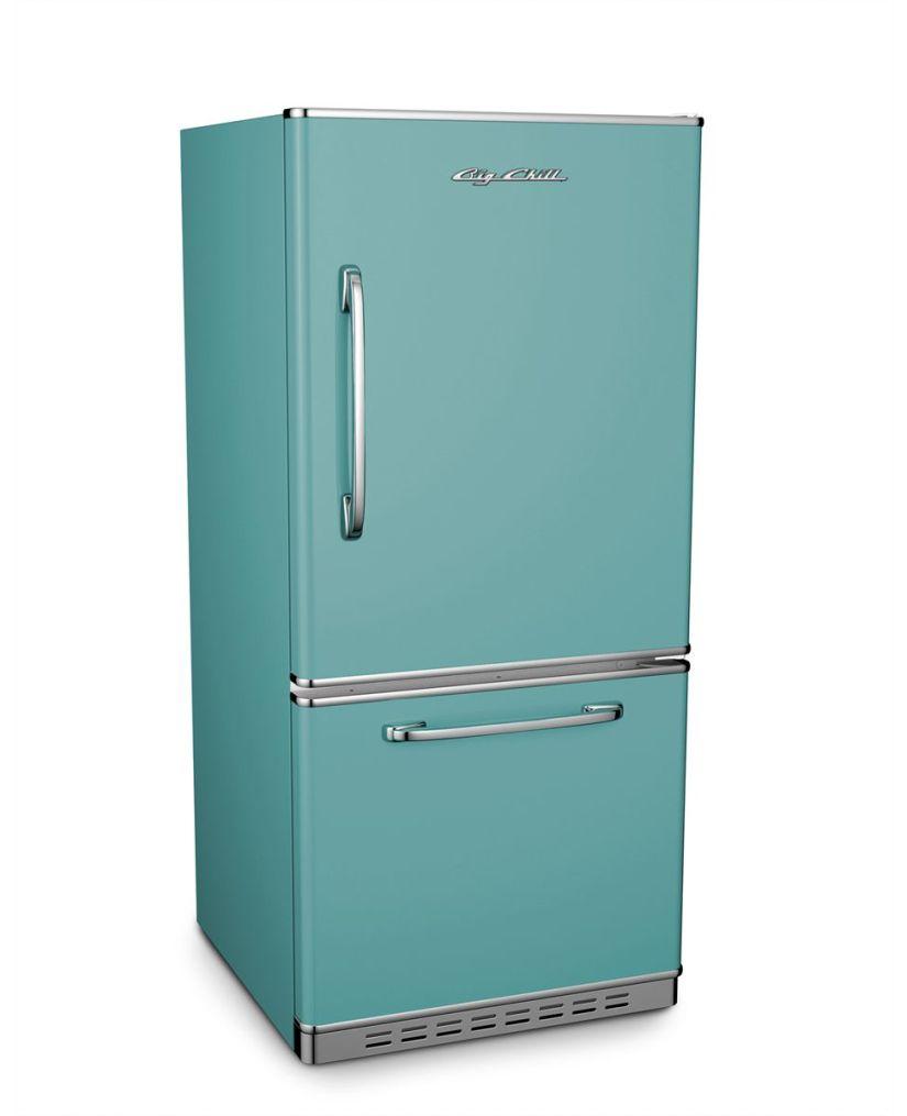 Big Chill Retropolitan Refrigerator in Pastel Turquoise