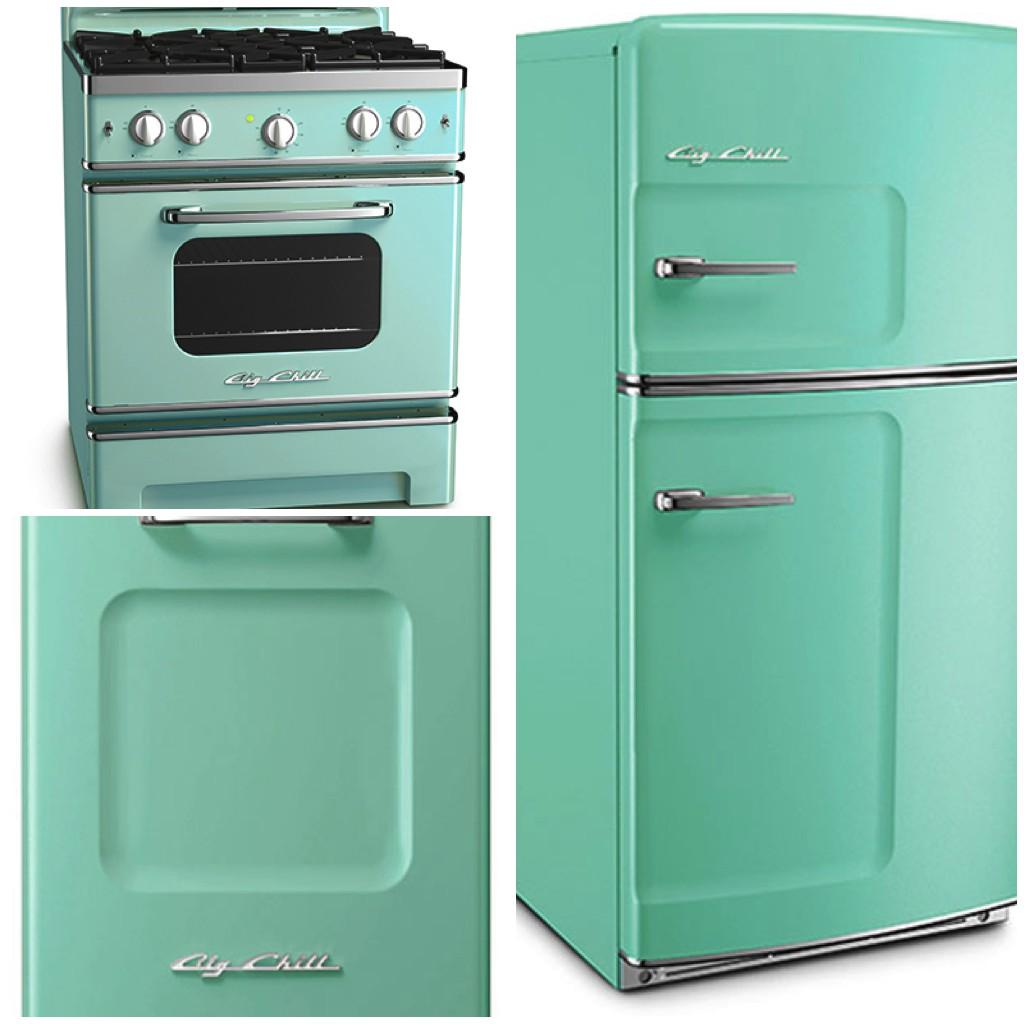 Original Fridge - 30 Retro Stove - Retro Dishwasher - Turquoise - Big Chill
