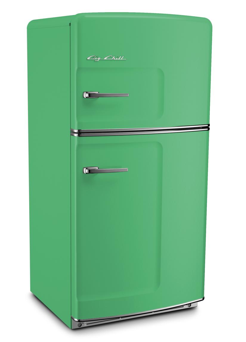 Retro Original Refrigerator in Custom Color 6021 Pale Green