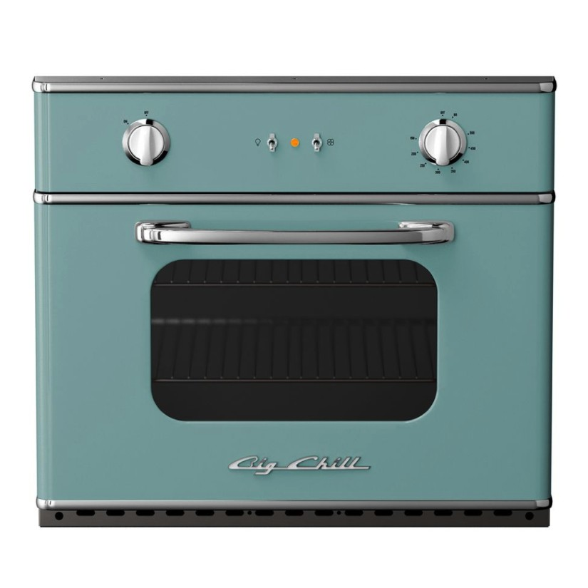 Big Chill 30″ Retro Electric Wall Oven in Pastel Turquoise