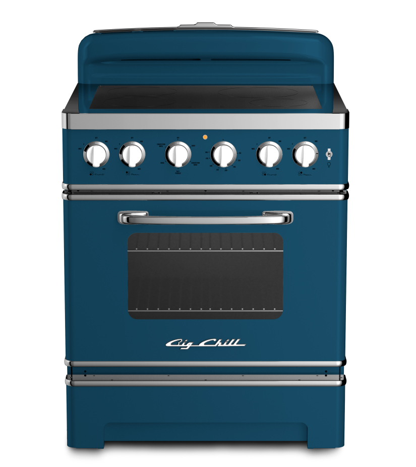 30″ Retro Stove in Custom Color 5009 Azure Blue