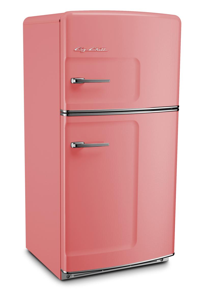 Retro Original Refrigerator in Custom Color 3014 Antique Pink