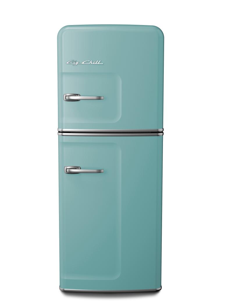 Slim Refrigerator in Custom Color 6034 Pale Turquoise