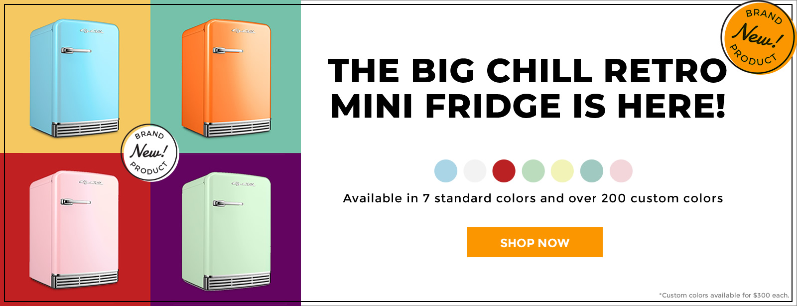 New Mini Fridge 1600 Banner