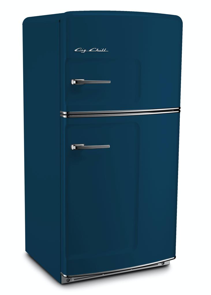 Retro Original Refrigerator in Azure Blue
