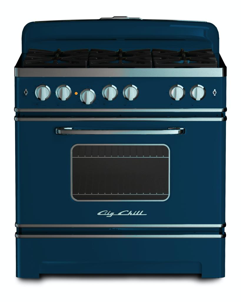 Retro 36″ Stove in Azure Blue