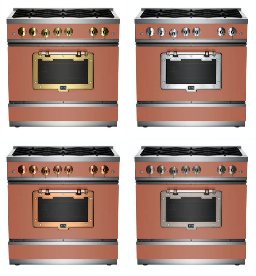 36″ Classic Stove in Beige Red