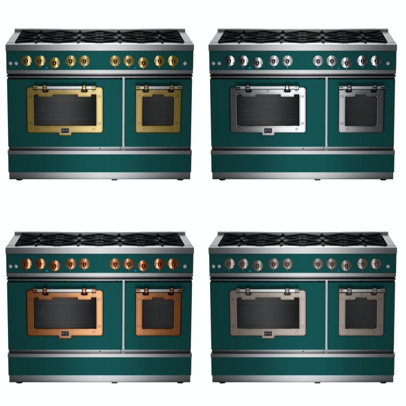 48″ Classic Stove in Beige Red