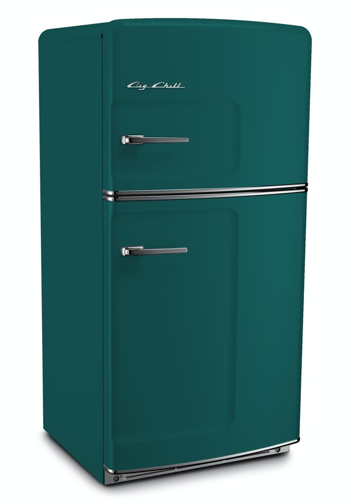 Retro Original Refrigerator in Water Blue